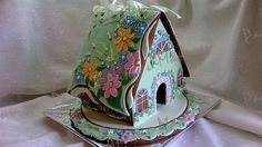 """Gingerbread house """"Spring flowers"""" by maro, posted on Cookie Connection"""