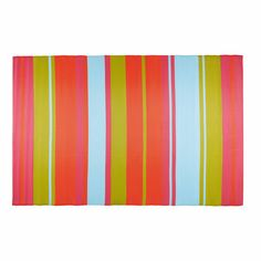 GUARITITO multicoloured stripe fabric outdoor rug 180 x 270 cm - Guaritito Hallway Furniture, Small Furniture, Garden Furniture, Striped Rug, Striped Fabrics, Coat Hanger Hooks, Dining Room Bench Seating, Sun Lounger Cushions, Decorative Storage Boxes