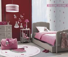 A princess bedroom that is still sophisticated and girly without being cotton candy pink