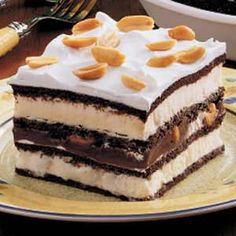 Ice Cream Sandwich Desserts With Sandwiches, Frozen Whipped Topping, Hot Fudge Ice Cream Topping, Salted Peanuts Fudge Ice Cream, Ice Cream Desserts, Hot Fudge, Frozen Desserts, Frozen Treats, Fun Desserts, Delicious Desserts, Dessert Recipes, Yummy Food