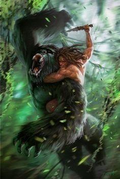 Tarzan - desenho de Daryl Mandryk