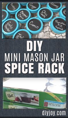 Home Decorating Ideas For Cheap DIY Mason Jar Spice Rack – Easy DIY Projects and Crafts for the Kitchen and Home Decor – Cheap Decorating Ideas for Rustic Farmhouse Decor – Cool Organizing Hacks and Ways To Get Organized on A Budget Pot Mason Diy, Small Mason Jars, Mason Jar Crafts, Organisation Hacks, Spice Organization, Organizing Ideas, Organising, Home Design, Design Ideas