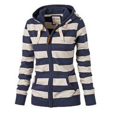 Girls Sweatshirts Coat, Spring Striped Hoodies