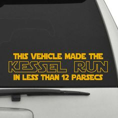 Kessel Run Star Wars Car Decal