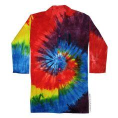 Rainbow Spiral Tie-Dye Lab Coat