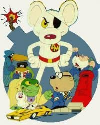 """On Nickelodeon in the 80's- """"Danger Mouse"""" cartoon"""