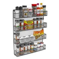 Give your kitchen a charming appeal by selecting this Southern Homewares Wall Spice Rack. Mounting hardware is included.