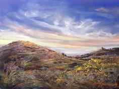 "Kissed by Sunrise by Lindy Cook Severns | $500 | 12""w x 9""h | Original Art | http://www.vangoart.co/buy/art/kissed-by-sunrise @VangoArt"