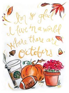 Hello october, happy fall y'all, bullet journal october, october quote