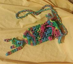 Rainbow Hippie Festival Water Bottle Carrier with Strap - Crocheted with 100% Preshrunk Cotton