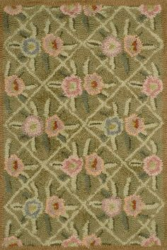 either bedroom or the living room 8'x10' #DashAndAlbert Garden Trellis Wool Hooked Rug