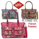 Oilily French Flowers Carry All M/Mittel Handtasche in Pink, Grey oder Tobacco