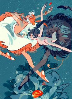 Princess tutu by MyDearBasil on DeviantArt Pretty Art, Cute Art, Character Art, Character Design, Animation Character, Character Sketches, Arte Peculiar, Wow Art, Nocturne