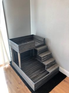 Dog Proof Litter Box, Dog Bunk Beds, Dog Bedroom, Custom Dog Beds, Bed Parts, Bunny Cages, Dog Rooms, Wooden Cat, Cat Condo