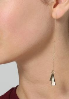 Selected Femme - SFCOURTNEY - Pendientes - gold colour Arrow Necklace, Hanger, Drop Earrings, Gold Colour, Color, Jewelry, Spring Summer 2016, Earrings, Accessories