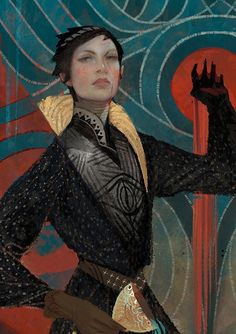 Temperance is video game concept art for Dragon Age Inquisition. The image features Cassandra, one of the major characters from video game series Dragon Dragon Age Origins, Dragon Age Inquisition, Cassandra Dragon Age, Dragon Age Tarot Cards, Character Inspiration, Character Art, Images Kawaii, Dragon Age Series, Decks