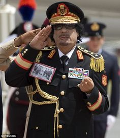Colonel Muammar Gaddafi - what can you say? Looks mad and bad and was mad and bad. Some would say fully deserved his final death agony ( shafted with a bayonet).