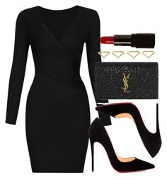 Style #11443 by vany-alvarado on Polyvore featuring polyvore fashion style Christian Louboutin Yves Saint Laurent Ana Khouri Illamasqua clothing