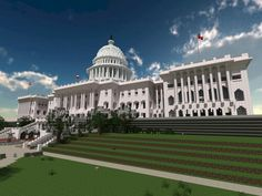 White House, minecraft style