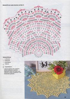 Kira scheme crochet: Scheme crochet no. Motif Mandala Crochet, Free Crochet Doily Patterns, Crochet Doily Diagram, Crochet Motifs, Crochet Patterns For Beginners, Crochet Chart, Thread Crochet, Crochet Home, Irish Crochet