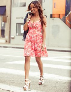 Don't mess with a spring classic: lace + florals.