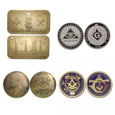 Find More Metal Crafts Information about 4pcs/lot Mix Freemason Masonic Mason Metal Craft Challenge Coin: symbol, Bar, Masonic United, Members,High Quality craft brands,China coin video Suppliers, Cheap coin star from South Kingze Co.,Ltd on Aliexpress.com