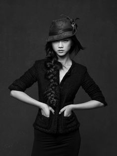 """Little Black Jacket"" – Celebrities in black Chanel Jackets photographed by Karl Lagerfeld"