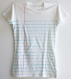 Women's Loose Leaf Notebook Paper Print T-Shirt | Women's Clothing | E for Effort | Scoutmob Shoppe | Product Detail