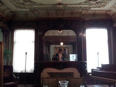 The Music Room (which has 52 cherubs carved into the woodwork) at the Swedish Institute