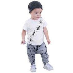 Boys' Baby Clothing Useful Lonsant Summer Baby Boy Clothing Set Newborn Children Cotton Cartoon Stripe Print Short Sleeve T-shirt Tops+beach Shorts Outfits Harmonious Colors Clothing Sets