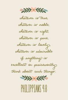 Piensa en lo más bello.
