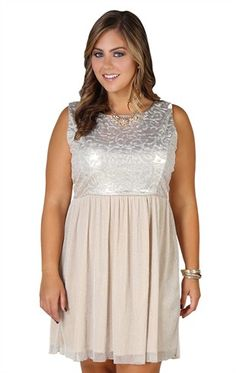 Deb Shops plus size #homecoming #dress with metallic bodice and #ballerina skirt $52.90