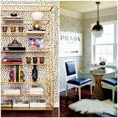 dalmatian-spotted walls + the prada marfa print #office