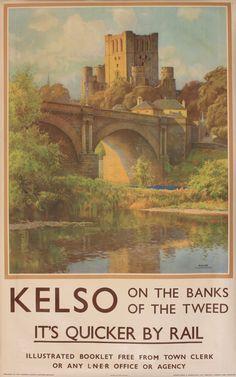 Kelso on the banks of the tweed - LNER - (Haslehust) -