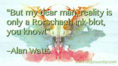 Rorschach Inkblot, Alan Watts, Self Improvement Tips, Cool Words, Feel Good, Quotations, Inspirational Quotes, Wisdom, Motivation