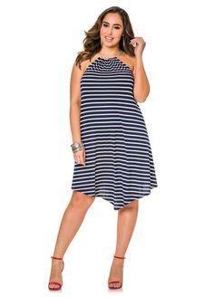01070b775c8f7 Ashley Stewart · Striped Cord Halter Dress Striped Cord Halter Dress Plus  Size Womens Clothing