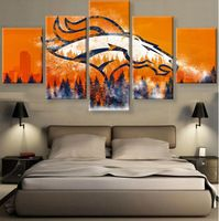 5 Piece Canvas Print Denver Broncos Poster Cuadros Landscape Canvas Wall Art Home Decor For Living Room Canvas Painting(Frame) Custom Canvas Prints, Wall Art Prints, Football Canvas, Football Team, Football Wall, Giants Football, Football Memes, Cheap Wall Art, Bedroom Posters