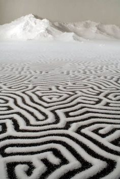 artist and sculptor Motoi Yamamoto used salt to bring his artistic vision to life. His colossal works can take weeks to complete, and the intricacy and sheer scale requires incredible patience and a slow, steady hand. When asked why he uses salt, Yamamoto cites its importance to humans: