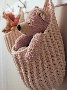 Crochet - Organizer Patterns - Hanging Storage Pouch