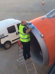 I don't often fly easyJet.... but when I do, I make sure the plane engine is fixed with 'duct tape'