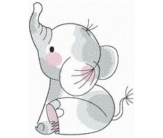 Elephant Coloring Page, Animal Coloring Pages, Elephant Design, Cute Elephant, Baby Embroidery, Cross Stitch Embroidery, Sally Nightmare Before Christmas, Baby Design, Baby Quilts