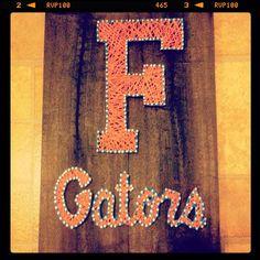Florida Gator String/Nail Wall Art By CraftyTNMom On Etsy