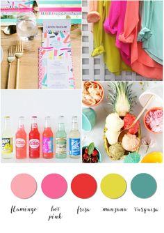 Color board. Summer party