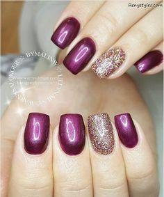 Amazing Glitter Nail Ideas for Girls 2017 - Reny styles
