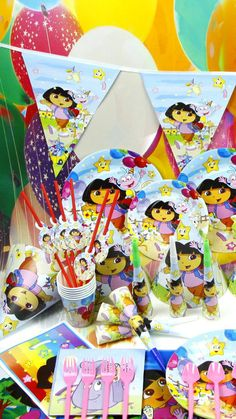 Dora the explorer Birthday Party Supplies by PartySuppliessbpm