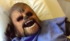 Mom Wears Chewbacca Mask During Labor (And It's Hilarious) | The Huffington Post. Motherhood. Mommy. Labor.
