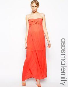 ASOS Maternity Bandeau Maxi Dress