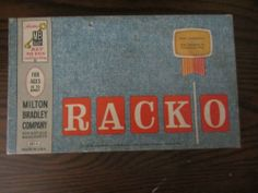 Milton Bradley Racko Card Game #4165 1961 Ages 10+ Complete VG   free shipping within continental usa