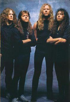 Jason Newsted, Lars Ulrich, James Hetfield & Kirk Hammett