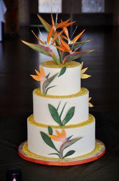 Bird of paradise wedding ideas cake toppers 28 Ideas for 2019 80 Birthday Cake, Luau Birthday, Wedding Cake Designs, Wedding Cakes, Impossible Cake, Vintage Flower Arrangements, Bird Of Paradise Wedding, Hawaii Cake, Jamaican Wedding